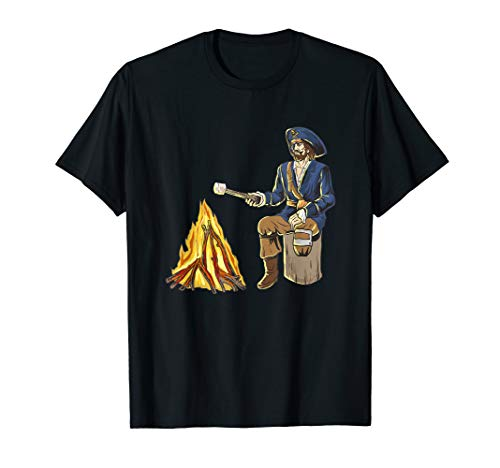 Peg Leg Pirate Campfire Marshmallow Roast Who Wants S'mores T-Shirt