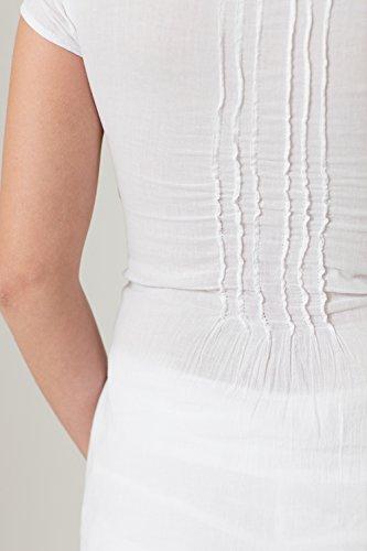 Falda Cotonniere Blanco Para Mujer La A5U64q4