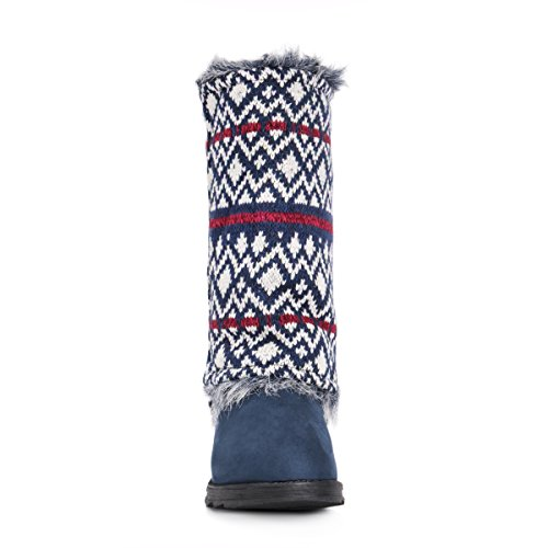 Fashion Reversible Frauen Boot Mukluks Navy Muk Andrea LUKS fwnf8SqB