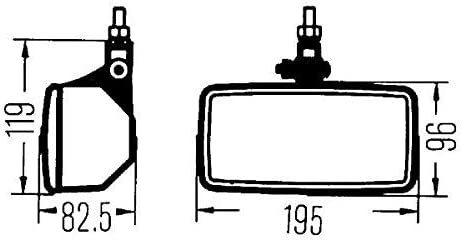 Halogen H3-12V//24V HELLA 1ND 003 590-401 Fog Light mounting Fitting Position: Left//Right