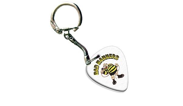 Bad Manners Classic Logo gama púa de guitarra Llavero ...
