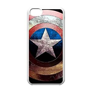 iPhone 5c Cell Phone Case White Captain America Phone Case Cover Hard Unique CZOIEQWMXN18195