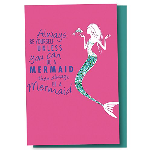 Tree-Free Greetings EcoNotes 12 Count Be A Mermaid All Occasion Notecard Set with Envelopes, 4 x 6 Inches (FS56246)