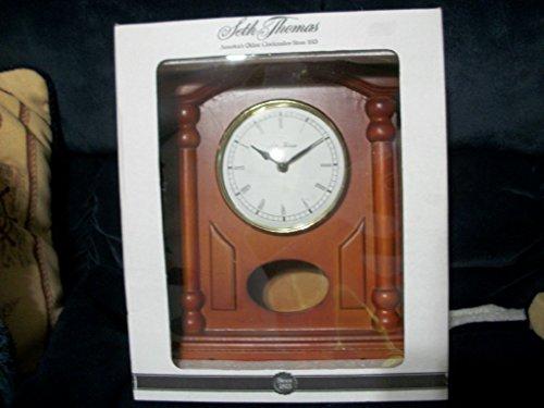 Seth Thomas Oak Mantle Clock with Pendulum