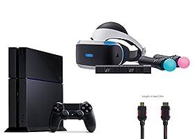 PlayStation VR Start Bundle 4 items:VR Headset,Move Controller,PlayStation Camera Motion Sensor,PlayStation 4