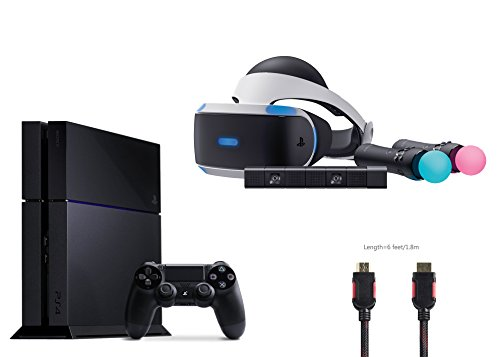 PlayStation VR Start Bundle 4 items:VR Headset,Move Controller,PlayStation Camera Motion Sensor,PlayStation 4
