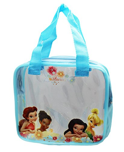 Disney Fairy Handbag (Disney Fairies Light Blue Transparent Makeup/Accessory Carrying Bag)