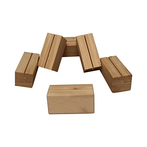 Menu Special Holder or Wood Business Card Holder Display 6 Pack