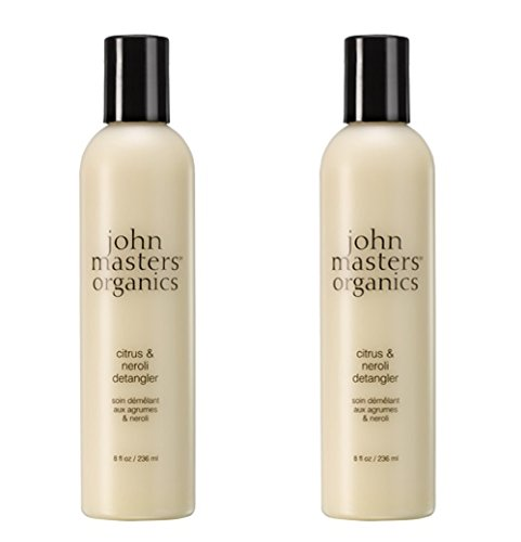 John Masters Organics Citrus & Neroli Detangler (Pack of 2) with Certified Organic Aloe Vera Leaf Juice, Jojoba Seed Oil, Coconut Oil, Sunflower Seed Oil and Chamomile Flower Extract, 8 fl. oz. ()