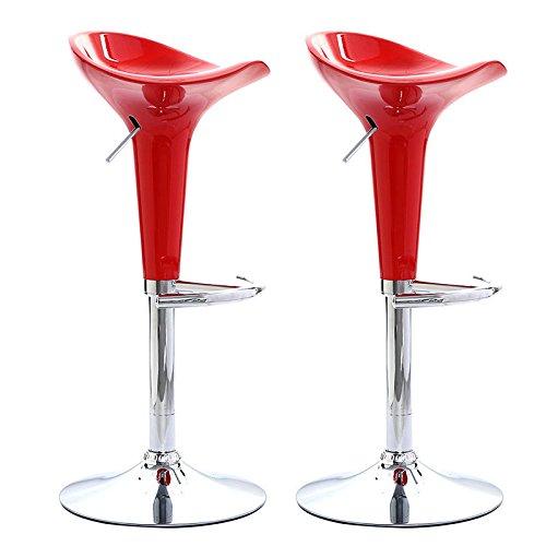 Set of 2 Modern Bombo Style Swivel Barstools Adjustable Counter Chair Bar Stools