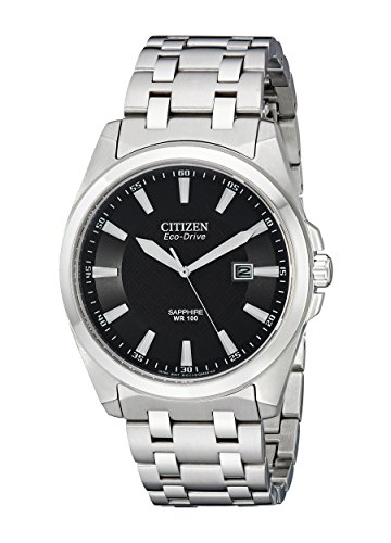 Citizen Men's Eco-Drive Stainless Steel Dress Watch with Date, BM7100-59E - Eco Drive Stainless Steel Watch