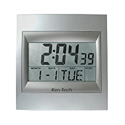 Atomic LCD Radio Controlled Wall Clock T-4668