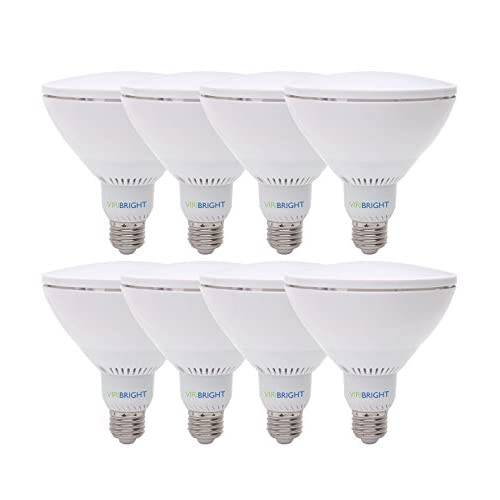 75 Watt Replacement PAR38, LED Light Bulb, 8 pack, Cool White, Dimmable E26 Edison Base, 90+ CRI