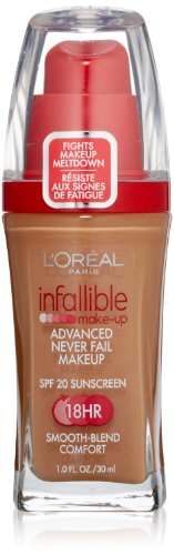 L'oreal Infallible Advanced Never Fail Makeup, Classic Tan, 1-Fluid Ounce (L Oreal Infallible Pro Matte Foundation Classic Tan)