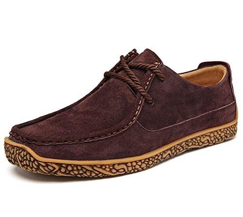 Altijd Mooie Heren Comfortabele Rubberen Zool Loafer Schoenen Flats Rijden Schoenen Sneker Bruin