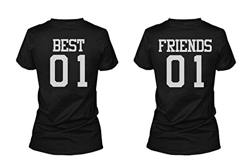 365 Printing Best 01 Friend 01 Matching Best Friends T-Shirts BFF Tees for Two Girls Friends