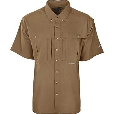 Drake Flyweight Wingshooters Short Sleeve Shirt - Gray