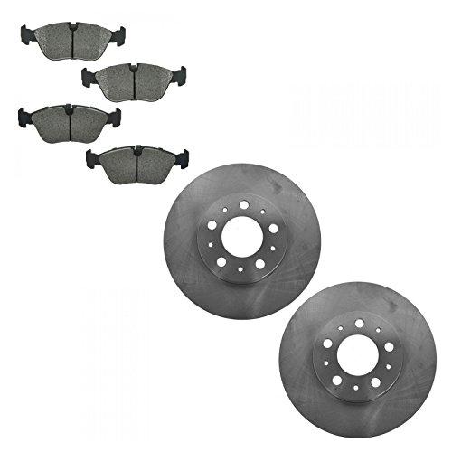 Front Metallic Brake Pad & Rotor Kit Set for Volvo 850 C70 S70 V70