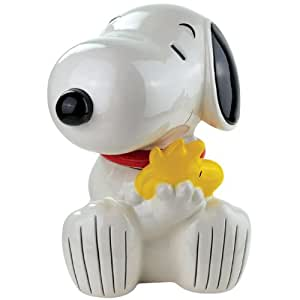 Westland Giftware Snoopy Hugging Woodstock Ceramic Cookie Jar, 10.75-Inch