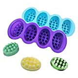 Bright Color Ellipse Silicone Soap Mold Massage Bar Silicone Molds DIY Soap Making Handmade Soap Marking Mold(Pack of 2)