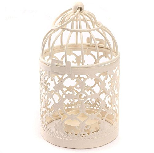 Outflower Metal Birdcage Hollow Iron Candle Holder Tealight Wedding Decor 1pc