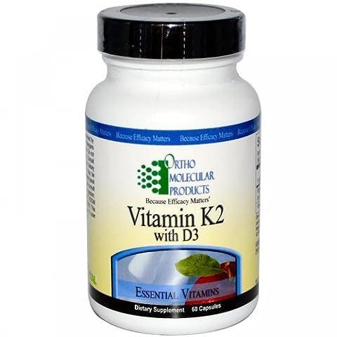 Vitamin K2 with D3 by Ortho Molecular (Vitamin D3 Ortho Molecular)