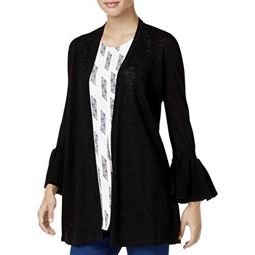 Alfani $80 Womens New 1200 Black Long Sleeve Open Cardigan Casual Top XL B+B