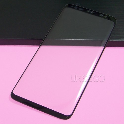 [Galaxy S8 Plus Screen Protector] Premium Full Coverage Ultra Clear 3D Curved Tempered Glass Screen Protector Guard Shield for Samsung Galaxy S8+ SM-G955U Android phone by SodaPop