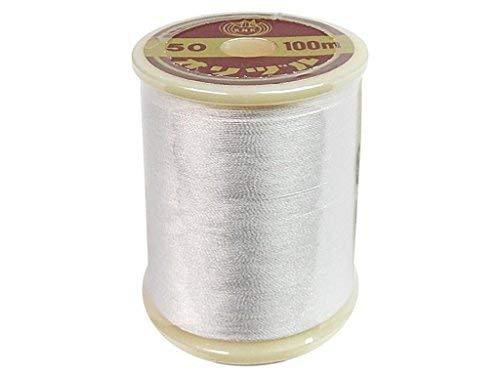 (YLI YLI202-1.WHT 100m #50 Silk Thread, White)