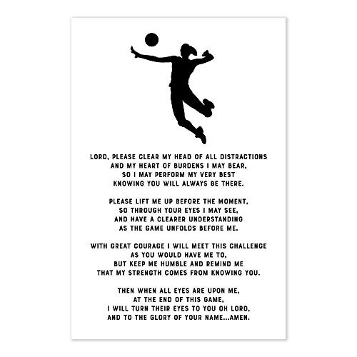 Volleyball Prayer Christian Athlete Poster]()