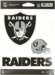 NFL Rico Industries Die Cut 3-Piece Triple Spirit Sticker Sheet, Oakland Raiders