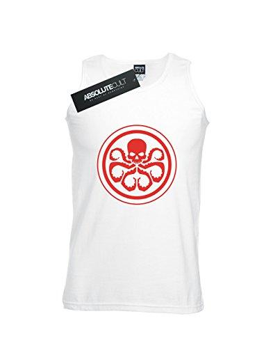 Hydra Tank Marvel blanco Logo Men Top w8USx5fq7n