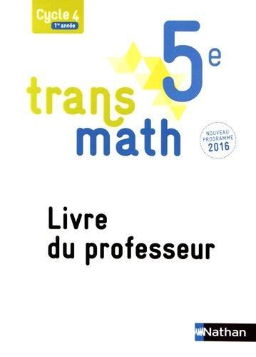 Amazon Fr Transmath 5e Livre Du Professeur Livres
