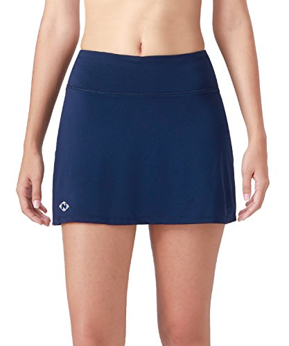 Naviskin Women's Active Athletic Skort Lightweight Skirt With Pockets Inner Shorts Perfect For Running Golf Tennis Workout Casual Use Navy Size ()