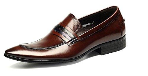 NBWE Chaussures pour Hommes Affaires Chaussures en Cuir Chaussures Habillées Occasionnels pour la Soirée Soirée red