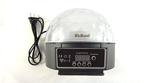 RioRand® S9D LED RGB Disco DJ Party Stage Lighting Digital Crystal Ball Effect Light