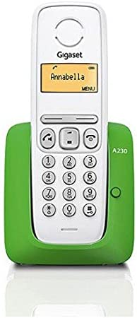 Gigaset A230 - Teléfono fijo, color blanco y verde: Siemens: Amazon.es: Electrónica