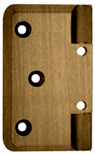 - C.R. LAURENCE P044ABR CRL Antique Brass Pinnacle Series Wall Mount Offset Back Plate