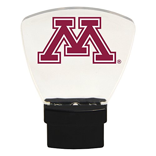 Authentic Street Signs NCAA Officially Licensed-LED NIGHT LIGHT-Super Energy Efficient-Prime Power Saving 0.5 watt, Plug In-Great Sports Fan gift for Adults-Babies-Kids Room (Minnesota Golden Gophers)
