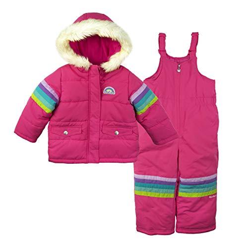 $130  COLUMBIA FROSTY SLOPE  2 PIECES  SNOW SUIT JACKET BIB SET GIRLS 2T PINK