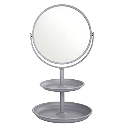Harima - Miroir de maquillage double face Acier inoxydable Grossissement x3