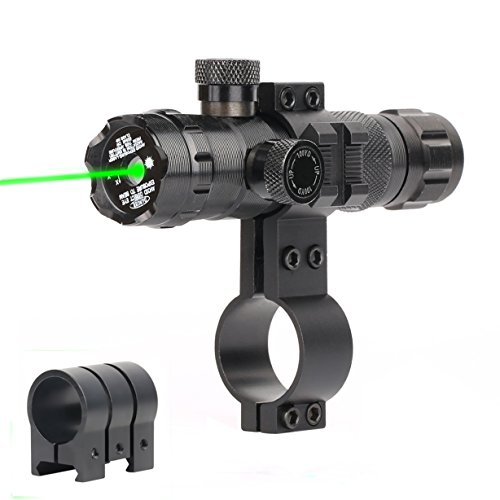 Vokul Tactical Rifle Scope Outside Adjusted Hunting Gun Rifle Scope Sight With 2 Mounts (A-Black)