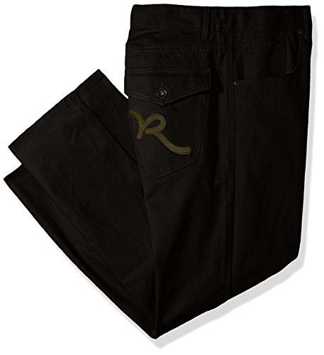 Rocawear Men's Big and Tall Battler Pant, Black, 46/32