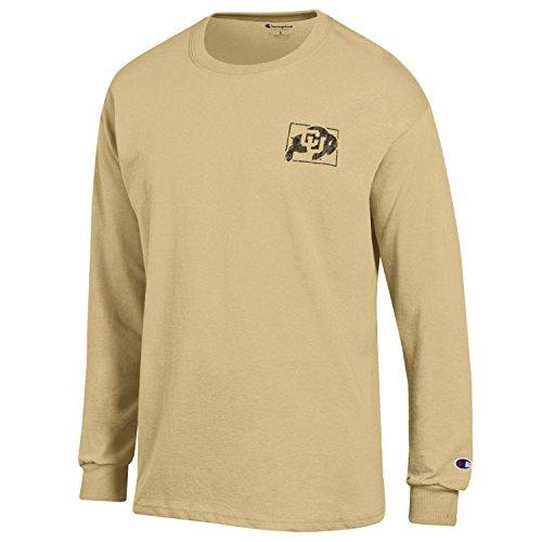 (Champion NCAA Colorado Buffaloes Men's Men's Homecoming Long Sleeve T-Shirt, Large,)