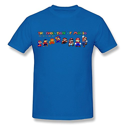 Price comparison product image ZHUYOUDAO Super Mario Evolution Tshirts For Mens RoyalBlue M