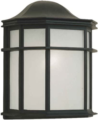 Forte Lighting 1719-01-04 Exterior Wall Light with White Acrylic Panel Shades, Black