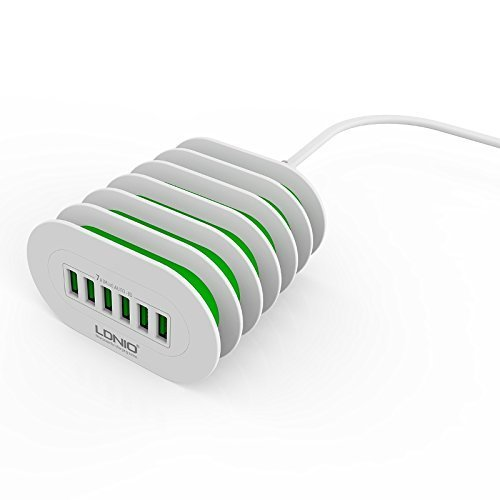 LDNIO A6702 6 port 7A USB Wall Travel Charger Adapter