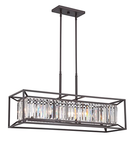 Designers Fountain Contemporary Chandelier - Designers Fountain 87438-VB Linares 4 Light Linear Chandelier