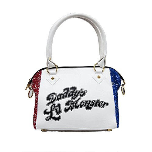 Official Suicide Squad Harley Quinn 'Daddy's Lil Monster' Sequin Handbag ()