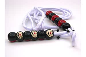Jumprope with Handpainted Wooden Ladybug Face